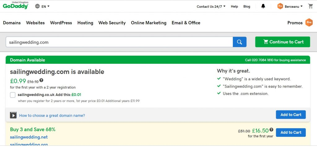 buy domain GoDaddy
