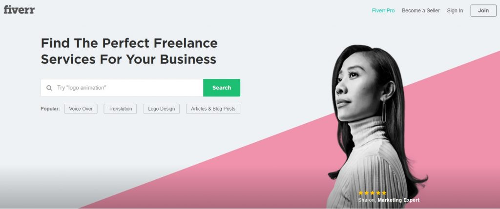 Fiverr freelance gigs jobs wiork
